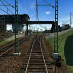 Einfahrt in den Güterbahnhof Reutlingen