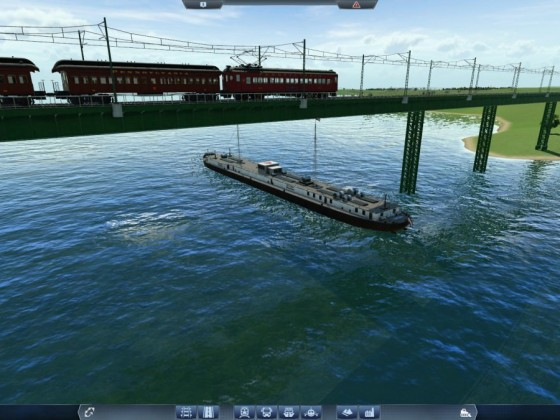 Train over Ship