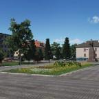 [TpF1] Administration square in the city Chudovo (Novgorodskaya oblast, Russia) + original photo to compare in comments