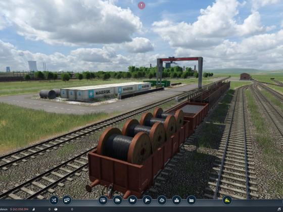 Alter Güterbahnhof mit Umschlagplatz @Altenwerder