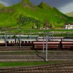 Züge auf dem Bahnhofsvorfeld Worthing