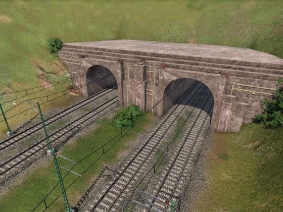 Tunnel-Portalbau