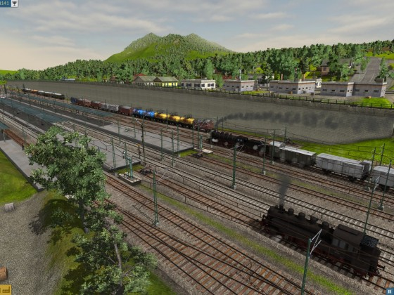 Eggenfelden: Bahnsteiggleise