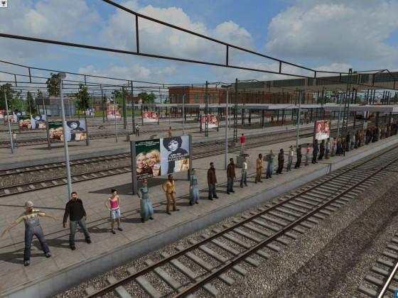 Menschenkette am Hauptbahnhof