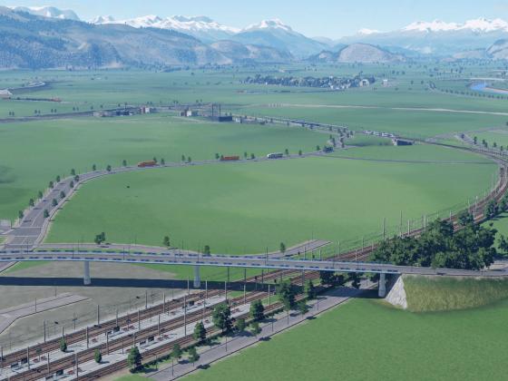 Blick aufs Rheintal von Bregenz aus