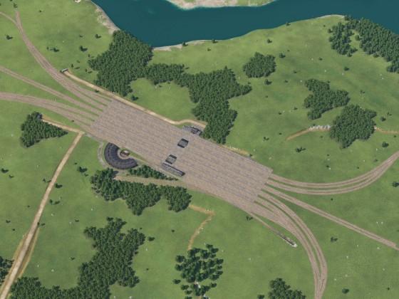 Güterbahnhof Rohbau - Draufsicht