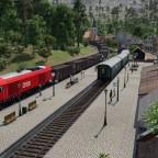 Kohlezug trifft Nostalgiezug in Einhalt