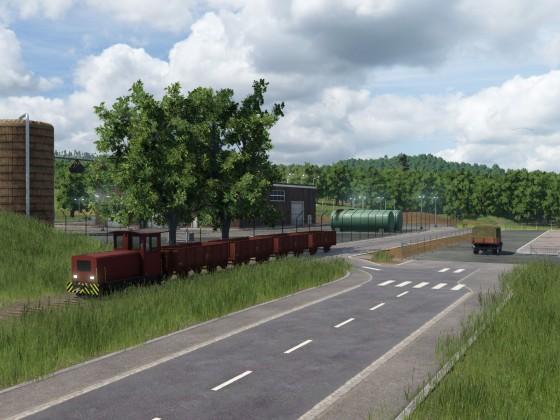 Werkbahn für den Getreidetransport