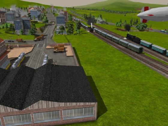 Blick auf Bahnhof Ruhland