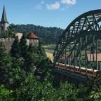 [TpF1] ÖBB 1046 on the bridge near the castle