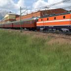Swedish expresstrain passing the depot