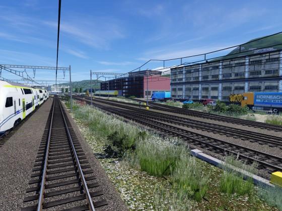 Südeinfahrt Bahnhof Thun