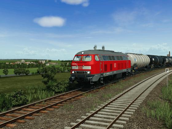 BR 218 auf der Eifelbahn