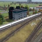 Stellwerk vor dem Bahnhof