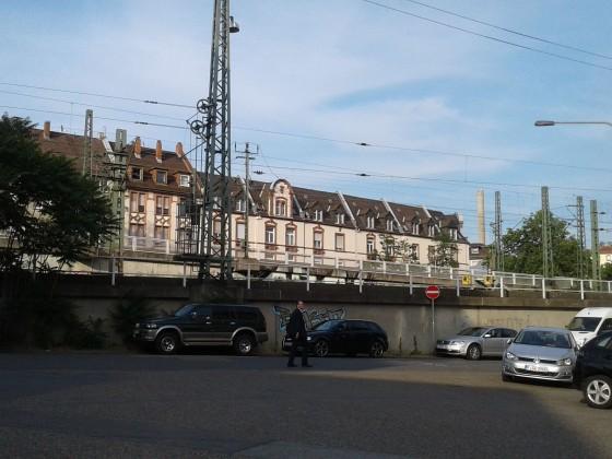 Westbahnhof- südliche Einfahrt - von der Kreuznacher Straße aus.