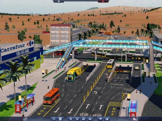 Crossroads + tunnel + overpass