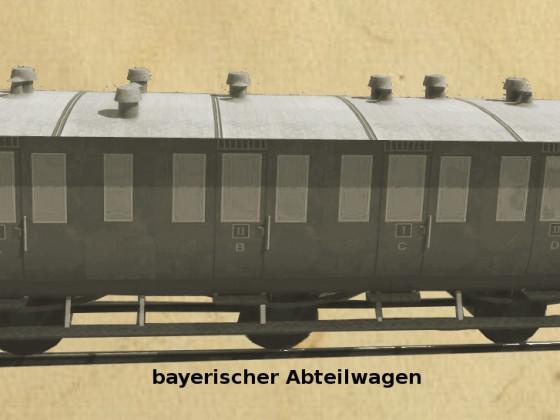 bayrisches Abteilwagenset
