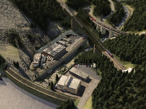 Wasserkraftwerk / Staumauer