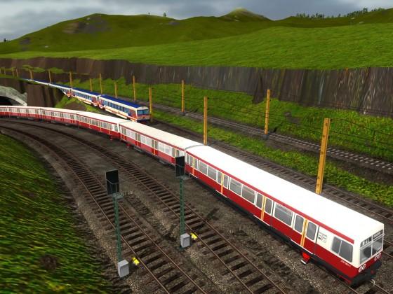 die S Bahn auf Abwegen in den Alpen