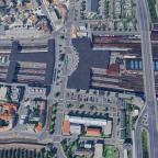 Der Südbahnhof: Luftbild