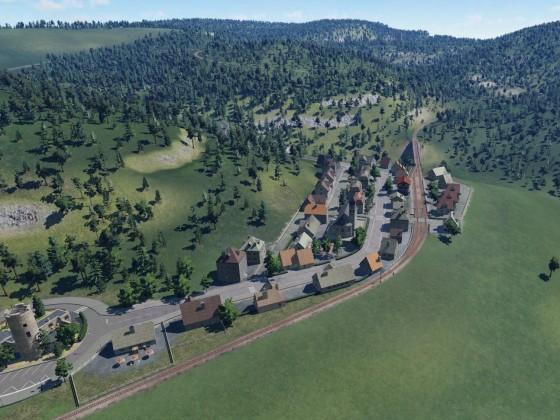 Übersicht Schmalspurbahn Binsdorf