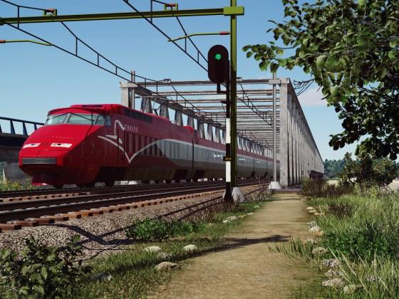 TGV Thalys crossing the river