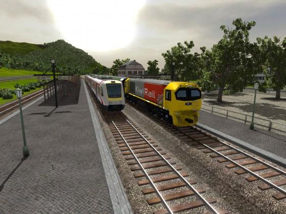 VT 612 der Hrvatske željeznice neben Kiwi-Rail DL Class