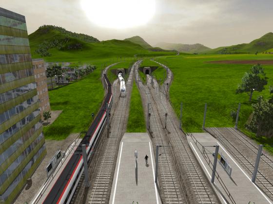 Bahnhofvorfeld von Ilford