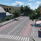 Blick zum Bahnhof