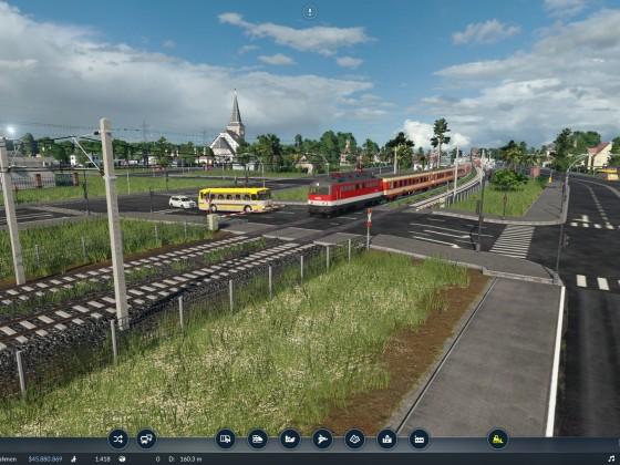 Stadt Bahnübergang