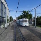 Blick auf Umstiegsstation Tram/Überlandtram/Hauptbahn / Changeover overland tram/tram/railway