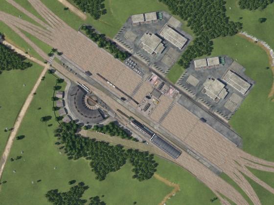 Draufsicht Güterbahnhof RB