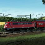 111er vor dem RE50 in Richtung Coburg