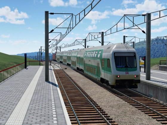 Regionalbahn bei der Ausfahrt