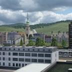 Sicht auf die noch unfertige Altstadt