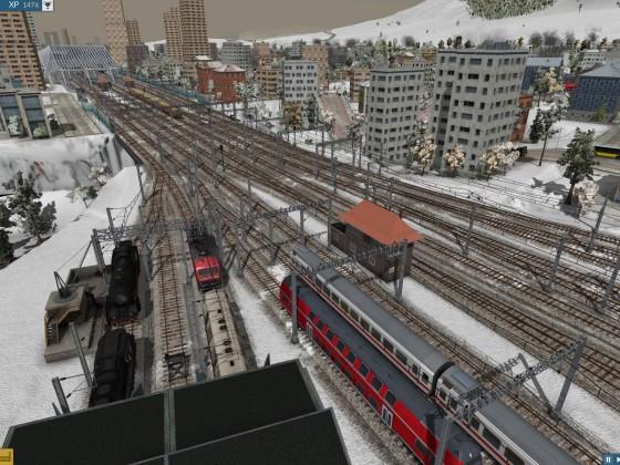 Blick HBF Richtung linkes Bahnhofsvorfeld (HBF im Hintergrund)