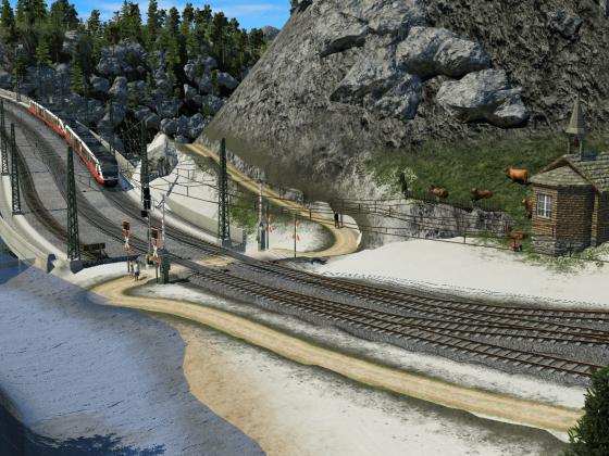 Der Wanderweg Bahnübergang von Kull