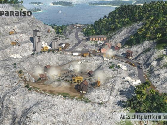 Aussichtsplattform am Steinbruch