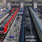 Blick auf die Bahnsteige 1-6