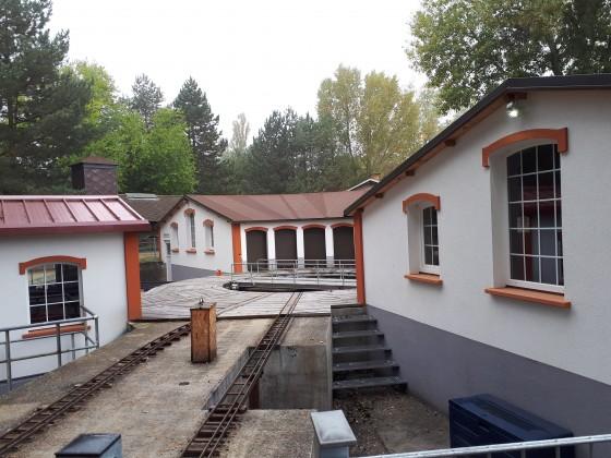 Lokschuppen der Gartenbahn im Heizhaus Strasshof (außen)