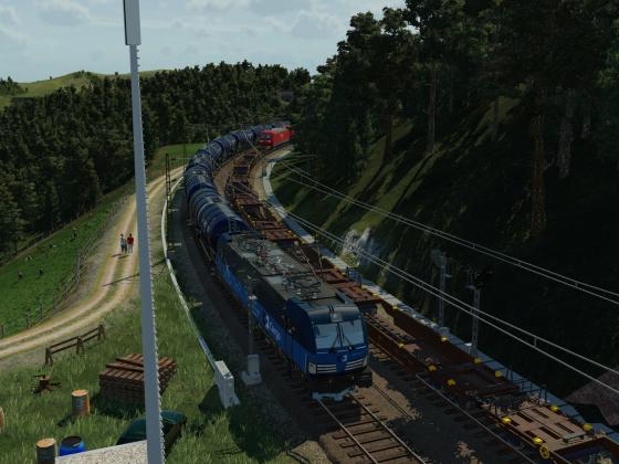 ČD Cargo in den Bergen