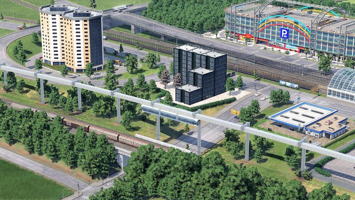 Prestigeprojekt Schwebebahn (Monorail) in Freifeld zwischen Flughafen und Messe 1/8