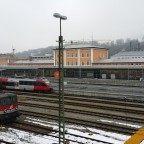 Hbf Passau - Blick auf das Hautpgebäude