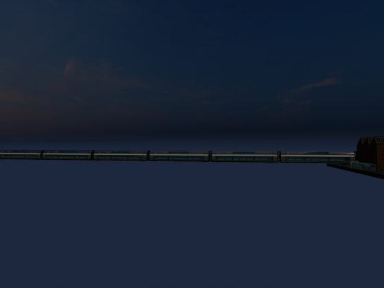 Jet train in a universe far away...