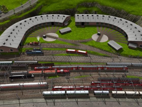 Bahnhofsvorfeld Worthing von Süden