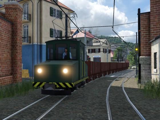Güterverkehr im Hinterhof