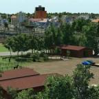 Blick auf Holzstadt