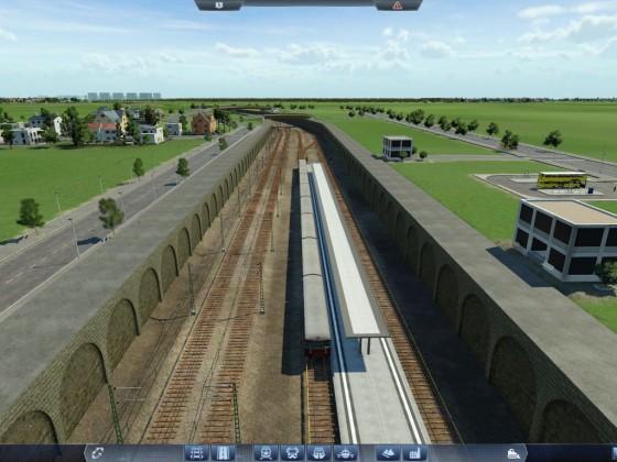 Ringbahn nach dem Bau, erste Testfahrt (Greifswalder Straße)