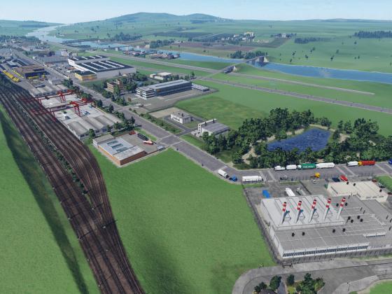 Luftbild vom GVZ Wustermark