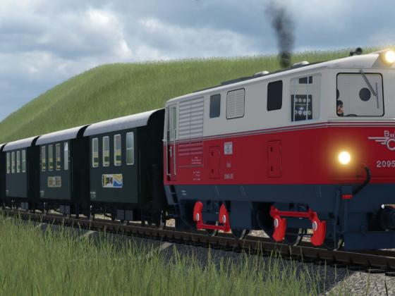 Betrieb auf der Waldviertelbahn - 2095 kurz vor Alt Weitra